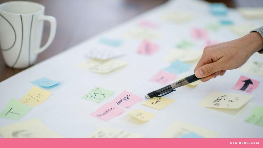 Time management techniques for entrepreneurs - post its