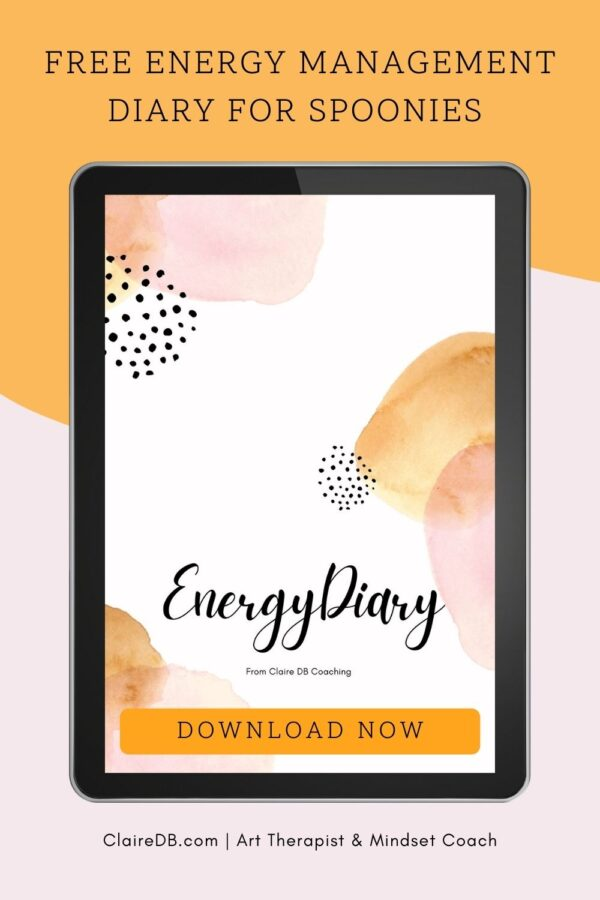 Free Printable Energy Management Diary - When it comes to personal energy management, spoonies know all the things they should be doing but either struggle to do them, or simply don't do them. Preventing fatigue or managing it effectively so you can gain more energy, slowly over time, is essential if you want to stay productive and enjoy the activities you love and truly enjoy your life! #fatigue #chronicillness#hiddenillness #wellness #chronicfatigue #spoonie #energy